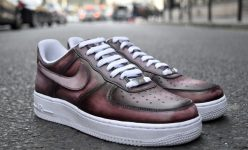 Nike Air Force One Low Patine dégradée et nuances de marron havane