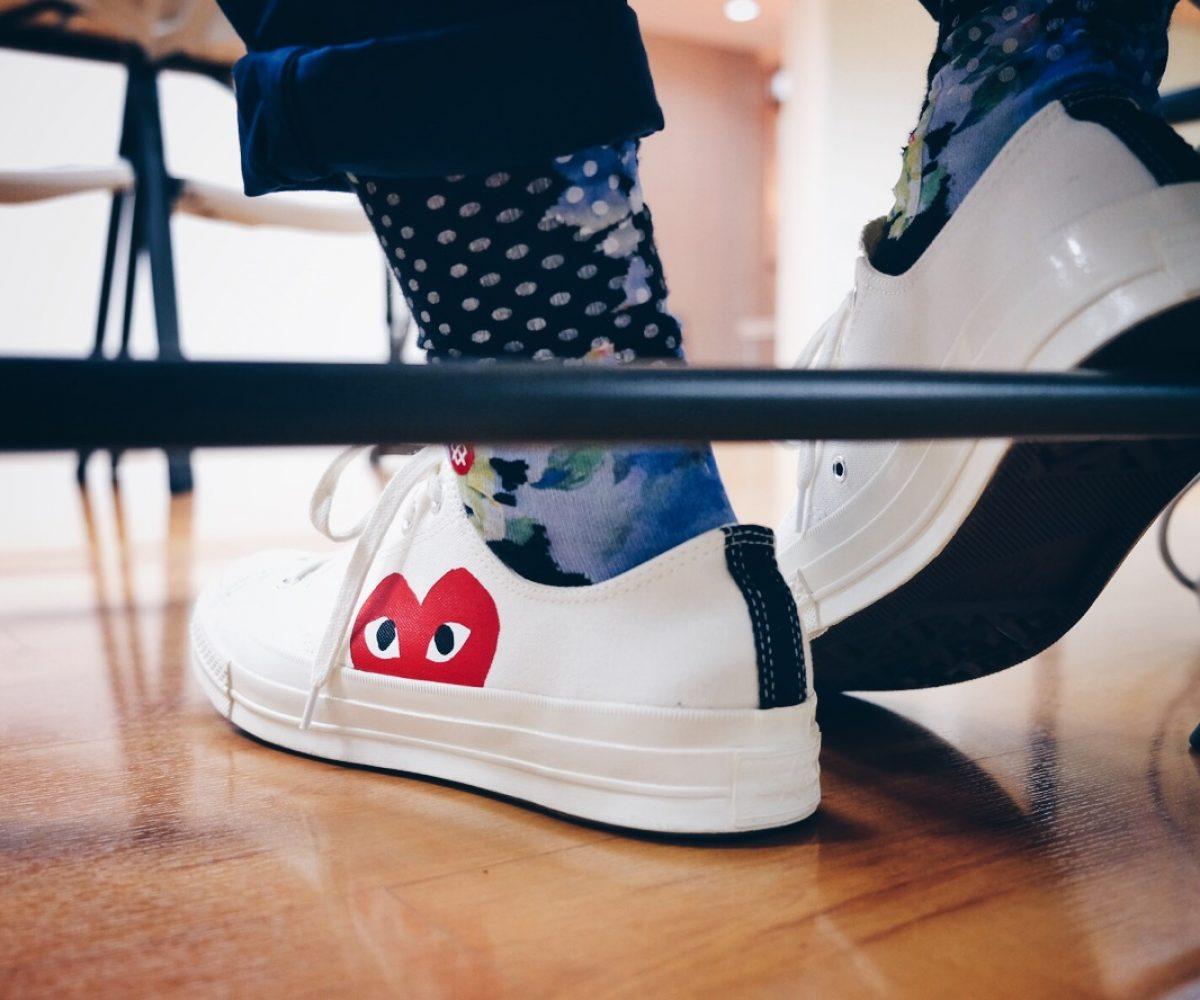 Converse x CDG Play – on feet