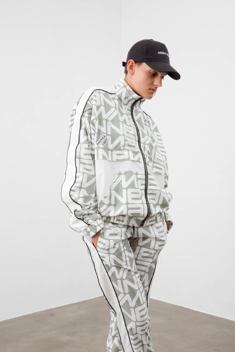 ANDREA CREWS x New Man Tracksuit Grey