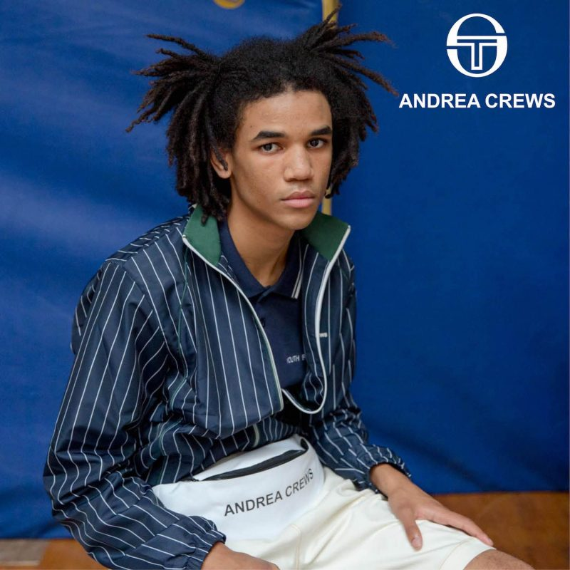 ANDREA CREWS x SERGIO TACCHINI Track Jacket Blue Stripe
