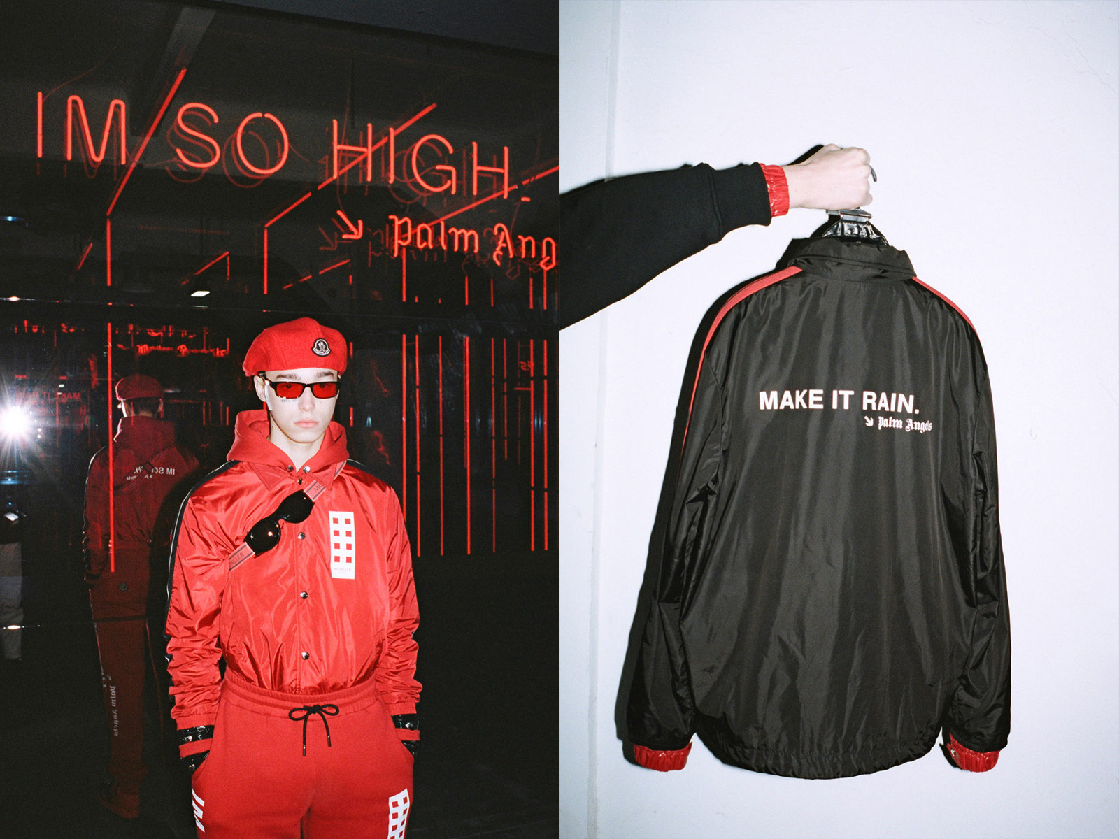 moncler palm angels collection ss19 make it rain