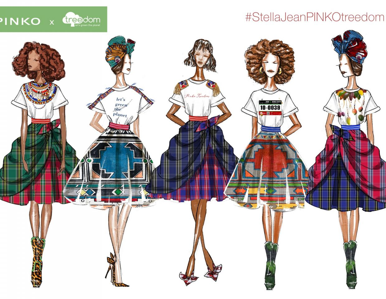 Pinko Stella Jeans Fashion Sketches Collaboration 1