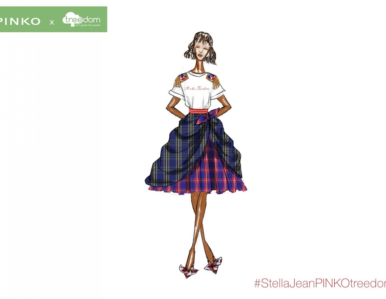 Pinko Stella Jeans Fashion Sketches Collaboration 4