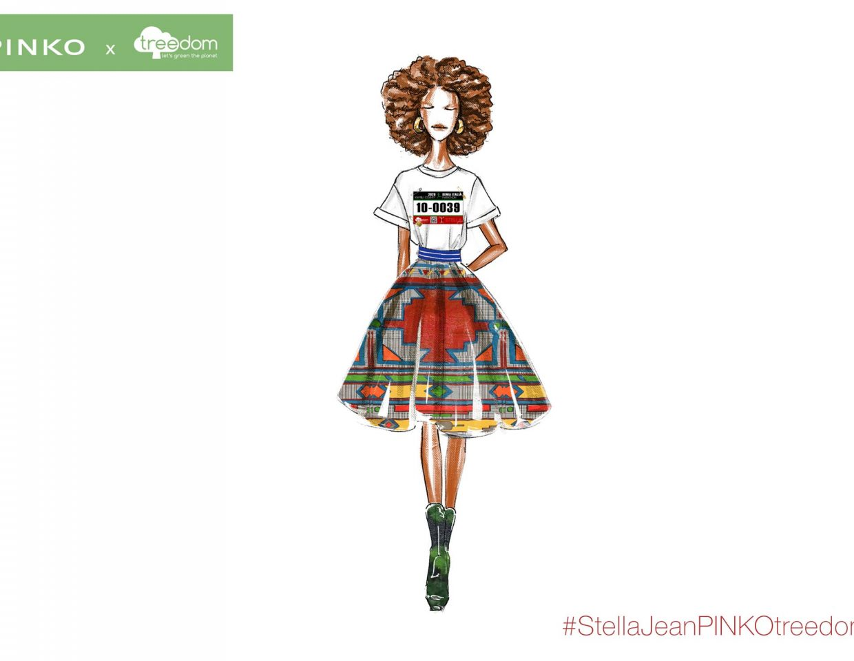 Pinko Stella Jeans Fashion Sketches Collaboration 5